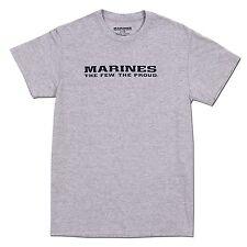 US United States Marines USMC Tee Shirt Oxford Gray T-shirt Army Navy Military