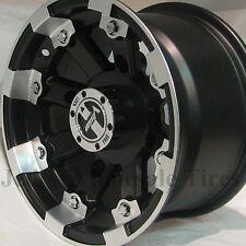 1) 12x8 4/156 4+4 DOT Vision Style 393 LOCKOUT MBML ATV UTV Mini-Truck RIM WHEEL