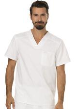 Cherokee Workwear Men's Scrub Set (V-Neck Top: WW690 / Pant:WW140 ) in White