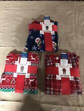 JOE BOXER INFANT / TODDLER FLEECE BLANKET SLEEPER Christmas Theme FREE Shpg NWTA