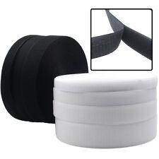 coser Sujetador de gancho y bucle de cinta Blanco Negro tipo de Velcro 20 mm 50 mm