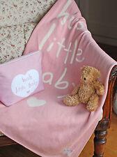 "Shruti ""Hush Little Baby"" Blue or Pink Cotton Blanket - 70 x 90cm"