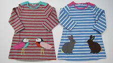 BODEN ragazze Carine Applique Abito uccelli o conigli 0-3-6-12-18-24-2-3 NUOVA