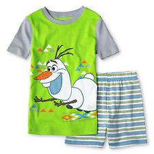 Disney Boys Frozen OLAF SNOWMAN PJ Pal Pajamas Two Piece Set Short Sleeve 4 & 10