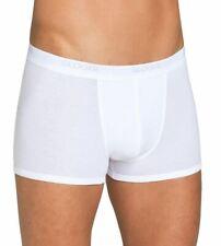 Mens Sloggi Basic Short Boxers in Black & White 2 Pack Trunk Underwear Designer