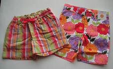 Gymboree NWT PRETTY POSIES Plaid Pull On Flower Bermuda Shorts 3 3T 4 4T 5 6 7