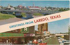 Scenes in Laredo Texas TX Postcard