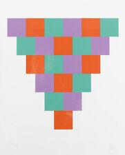 """BILL MAX """"Komposition"""" 1985 Original handsignierte Farbserigrafie! Nr 56/165 TOP"""