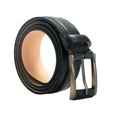 Giorgio Armani Men's 100% Leather Black Buckle Belt Size 28 30 32 34 36 38