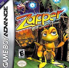 Zapper: One Wicked Cricket Nintendo Game Boy Advance, 2002 FREE SHIP USA