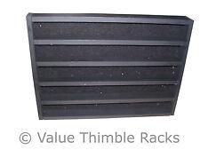 50 thimble display rack in matt black with black felt colour