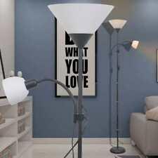Design LED Stehlampe Leseleuchte Büro Arbeitszimmer 6W HxD 145x25 cm Beleuchtung