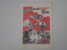 advertising Pubblicità 1973 BARAVELLI ROBIN SUPERMAN BATMAN