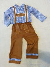 Trachtenanzug Lederhosen-Optik Hemd Oktoberfest Kostüm kariert Gr.86/92-104-116