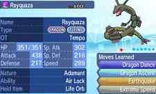 Pokemon Strategy Guide: Shiny Rayquaza 6IV +Items Customization For XY/ORAS/SM