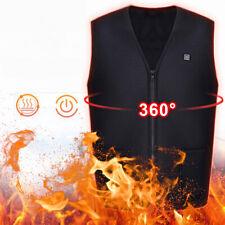 Electric Heating Sleeveless Vest Winter Heated USB Charging Jackets Coats Unisex