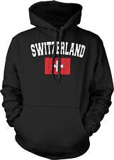 Switzerland Country Flag Swiss Suisse Pride Football Soccer Hoodie Pullover