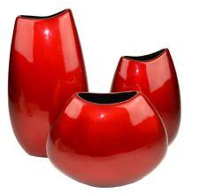 Lacquerware Decorative Vases - red