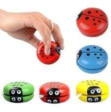 Wooden Ladybird Yo-Yo String Toy Trick Kids YoYo Stocking Filler Child Gift UK
