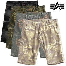 Alpha Industries Deck Shorts Pantaloni Corti Cargo Pant Cargo Bermuda mimetico NUOVO