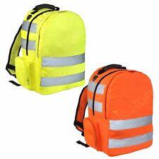 HI VIS VIZ BACKPACK WORK RUCKSACK HIGH VISIBILITY REFLETIVE CYCLING SCHOOL BAGS