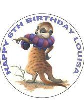 7.5 MEERKAT NOVELTY EDIBLE ICING BIRTHDAY CAKE TOPPER