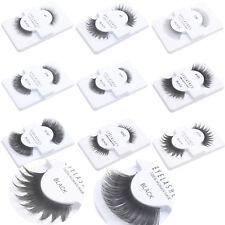 1 Pair of Faux Cils 100% Cheveux Humains Bande Cil faux cils Noir