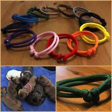 verstellbare Paracord Welpenhalsbänder Welpenband Markierungshalsband 51 Farben