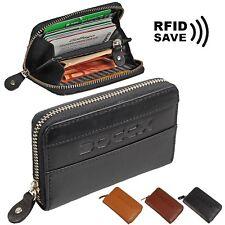 BOCCX Mini Reißverschluss RFID Geldbörse Leder Geldbeutel Münzbörse Börse 10009