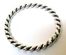 Handmade 925 Sterling Silver Band 2 mm Twisted Rope Thumb Midi Stacking Ring J-U