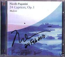 MIDORI Signiert PAGANINI 24 Caprices for Violin Solo CD Capricci  SONY