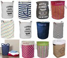 Nouveau grand lavage de blanchisserie pliable stockage panier bin entraver avec poignées