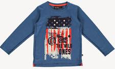 NEU LA Shirt in Blau mit coolem Biker & Flaggendruck von MINYMO