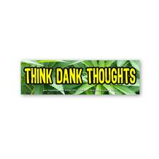CM268-MAG Think Dank Thoughts Marijuana Pot Ganja Color MINI MAGNET Sticker