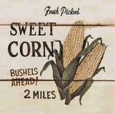 Sweet Corn Vintage Country Farm Sign Handmade Cross-Stitch Pattern