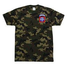 PROCLUB PRO CLUB CAMO Camouflage T-SHIRT T SHIRT 82nd Airborne Logo
