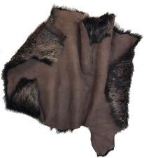 MARRON DORÉ PEAU DE MOUTON Toscana dorés POINTE CUIR D'agneau tissu, vêtements,