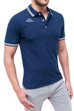 Kappa Männer Polo Mod. Malta Blau Weiss kurze Ärmel T-Shirt Unterhemd