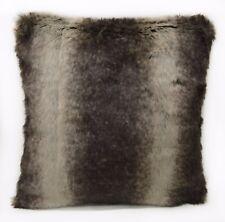 Fp753a Brown Beige Stripe Long Faux Fur Cushion Cover/Pillow Case*Custom Size*