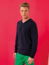 Asquith & Fox Men's Cotton Blend V-Neck Sweater AQ042 - Smart Casual Jumper