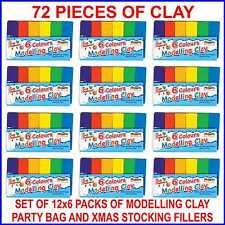 Job Lots Wholesale Modelling Clay Plastercine Kids Party Bag Stocking Fillers