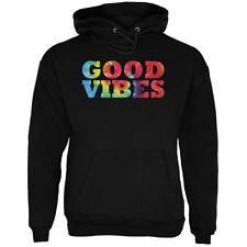 Tie Dye Good Vibes Black Adult Hoodie