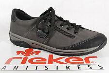 Rieker Scarpe con lacci da donna, Scarpe basse, Sneakers, Grigio 5224l, NUOVO
