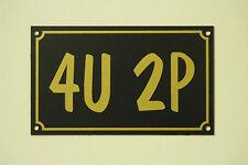 4U 2P Christmas Birthday Fathers Day Toilet Bathroom Home Humorous Gift Sign