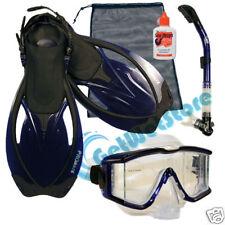 Snorkeling Dive Gear Purge Mask Snorkel Fins Bag Defog