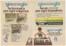 PUBBLICITA' ADVERTISING WERBUNG 1977 GIACCAGLIA STRUMENTI MUSICALI