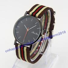 New Arrivals Color Stripe Strap Fashion Men Women Quartz Dress Wristwatches