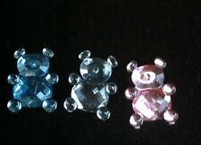 15g x Rhinestone Teddy Bear Pink Blue Silver Embellishment scatters baby shower
