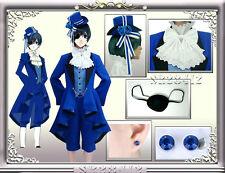 Black Butler Kuroshitsuji Ciel Phantomhive Cosplay Costume Suit Hand-Made