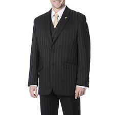 NWT LUXURY MEN'S SUIT BY FALCONE 380-000 BLACK COLOR 3PC SET REG.$399
